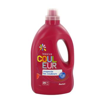 auchan lessive liquide pour couleur 1 5l tous les produits sp cialistes couleurs et tissus. Black Bedroom Furniture Sets. Home Design Ideas