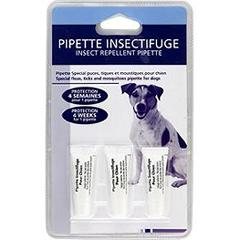 Pipette insectifuge chien special puces, tiques & moustiques