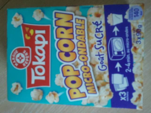 Pop corn Tokapi Micro-ondable 3x90g