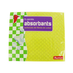Auchan carre absorbant x5