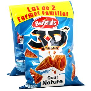 Biscuit goût nature - 3D Bugles