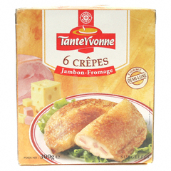Crepes Tante Yvonne Jambon fromage x6 300g