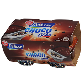 Creme dessert Delisse Choco Billes bicompartiment 4x117g