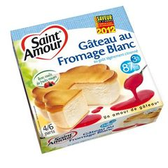 Gateau au fromage blanc et coulis de fruits rouges ST AMOUR, 3%MG, 350g