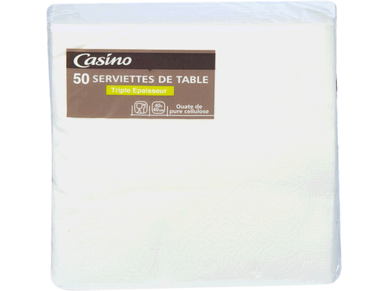 50 Serviettes de table Triple epaisseur - Dimension 40x40cm
