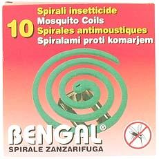 Recharges anti moustiques BENGAL, 10 spirales