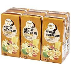 Nectar multifruits Bien Vu, pack de 6x20cl