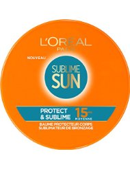 L'Oréal Paris Sublime Sun Protect & Sublime Baume Sublimateur de Bronzage FPS15 100 ml - Lot de 2