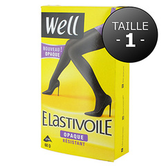Collants Well Elastivoile Opaque noir T1