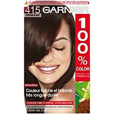 Garnier 100% color chatain glace n°415