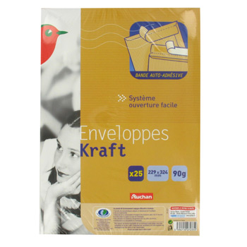 enveloppes kraft 229 x 324 mm avec bande auto adhesive 90. Black Bedroom Furniture Sets. Home Design Ideas