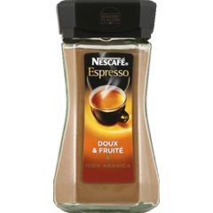 Cafe soluble doux pur arabica Cap Colombie NESCAFE, 100g