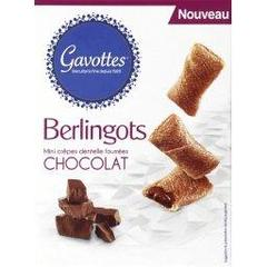 Berlingots de crepe dentelle fourree chocolat